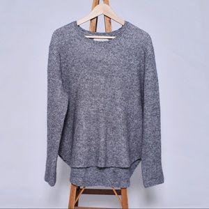LOFT grey knit sweater XL